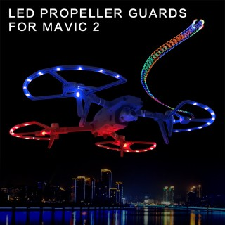 Dji Mavic 2 Led Propeller Guards with Landin Gears - Dji Mavic 2 Zoom